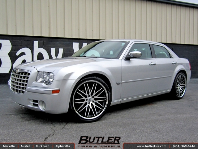 Chrysler 300C with 22in Lexani CVX 44 Wheels