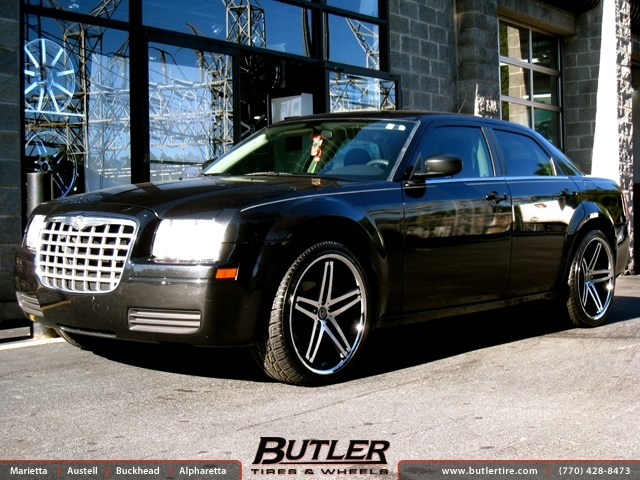 chrysler 300c with 22in lexani r five wheels exclusively. Black Bedroom Furniture Sets. Home Design Ideas