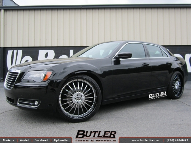 Chrysler 300C with 24in Dub Rhyme Wheels