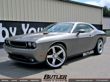 Dodge Challenger with 22in Iroc Wheels