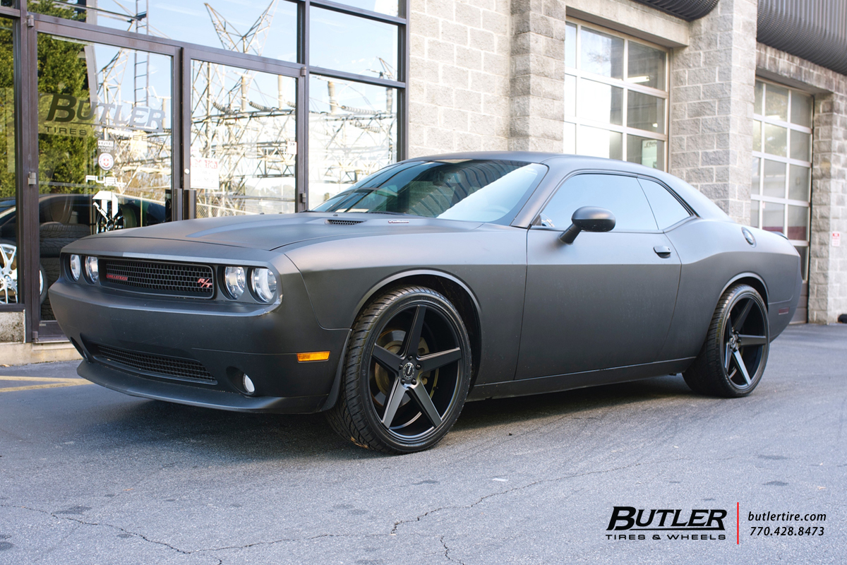 Dodge Challenger with 22in KMC 685 Wheels