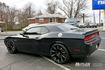 Dodge Challenger with 22in Lexani CSS15 Wheels