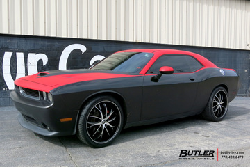 Dodge Challenger with 22in Lexani Polaris Wheels