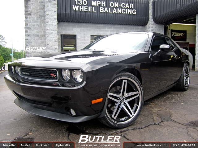 Dodge Challenger with 22in Lexani R-Five Wheels