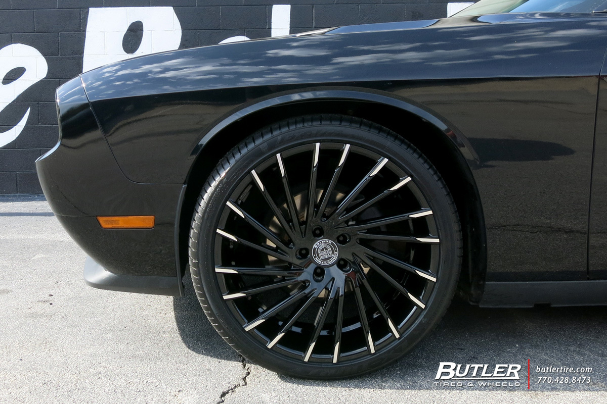 Dodge Challenger with 22in Lexani Wraith Wheels