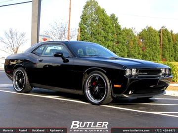 Dodge Challenger with 22in TSW Strip Wheels