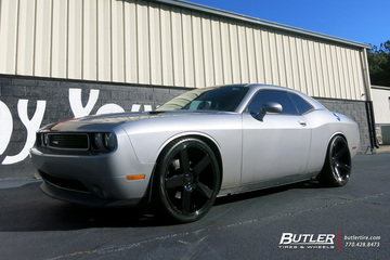 Dodge Challenger with 24in DUB Baller Wheels