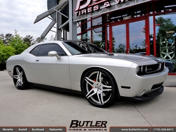 Dodge Challenger with 24in Forgiato F2 10 Wheels