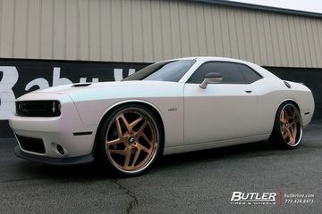 Dodge Challenger with 24in Forgiato F2 11 Wheels