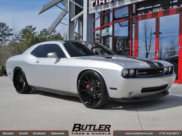 Dodge Challenger with 24in Forgiato Maglia Wheels