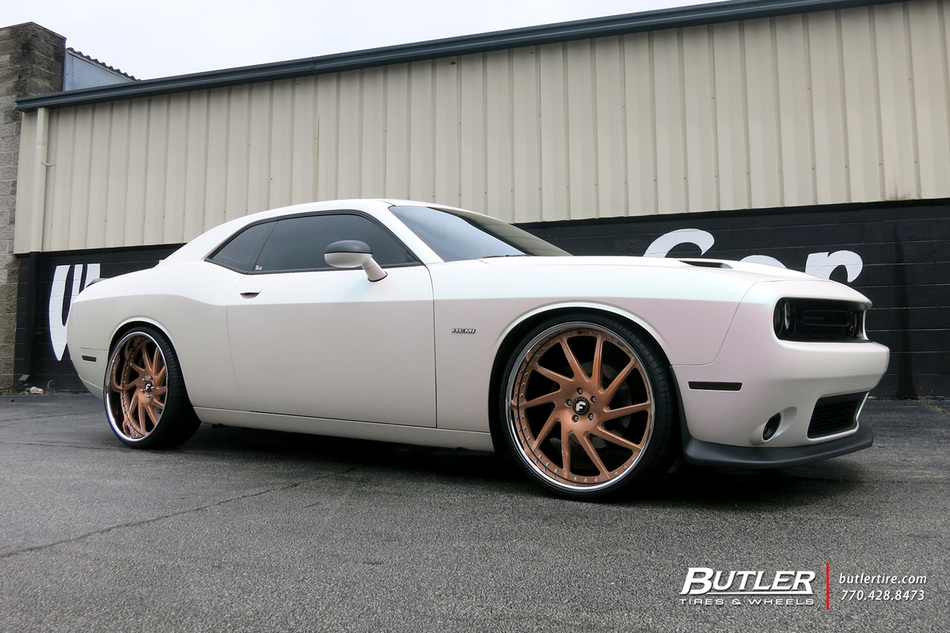 White Dodge Challenger >> Dodge Challenger with 24in Forgiato Sky 217 Wheels exclusively from Butler Tires and Wheels in ...