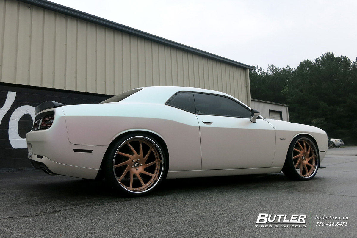 Dodge Challenger with 24in Forgiato Sky 217 Wheels