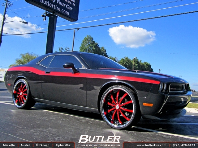 Dodge Challenger with 24in Lexani LSS10 Wheels