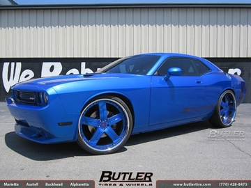 Dodge Challenger with 26in Forgiato Linee Wheels