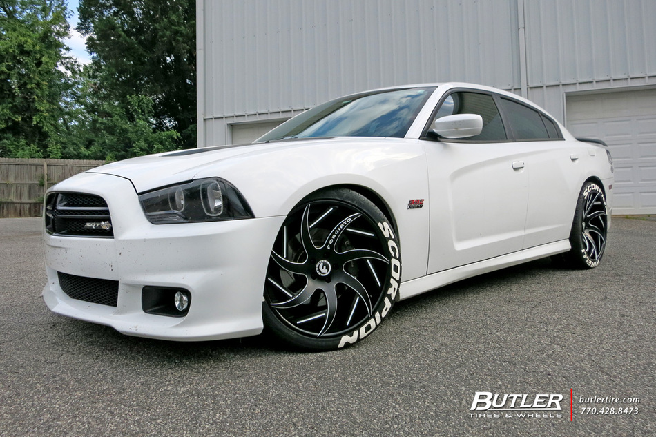 Dodge Charger With 22in Forgiato Girare Ecl Wheels