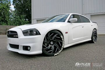 Dodge Charger with 22in Forgiato Girare-ECL Wheels