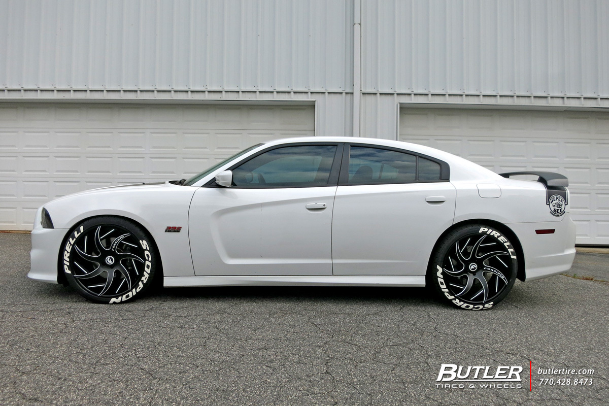 2017 Dodge Charger Rt White >> Dodge Charger with 22in Forgiato Girare-ECL Wheels exclusively from Butler Tires and Wheels in ...