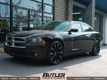 Dodge Charger with 22in Lexani CSS15 Wheels