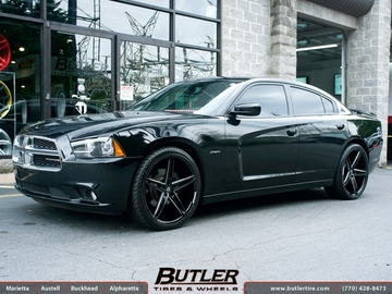 Dodge Charger with 22in Lexani R-Three Wheels