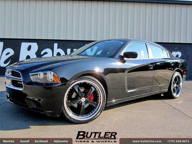 Dodge Charger with 22in TSW Strip Wheels