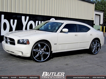 Dodge Charger with 24in Lexani LX 6 Wheels