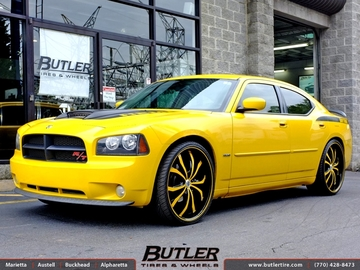Dodge Charger with 24in Lexani Lust Wheels