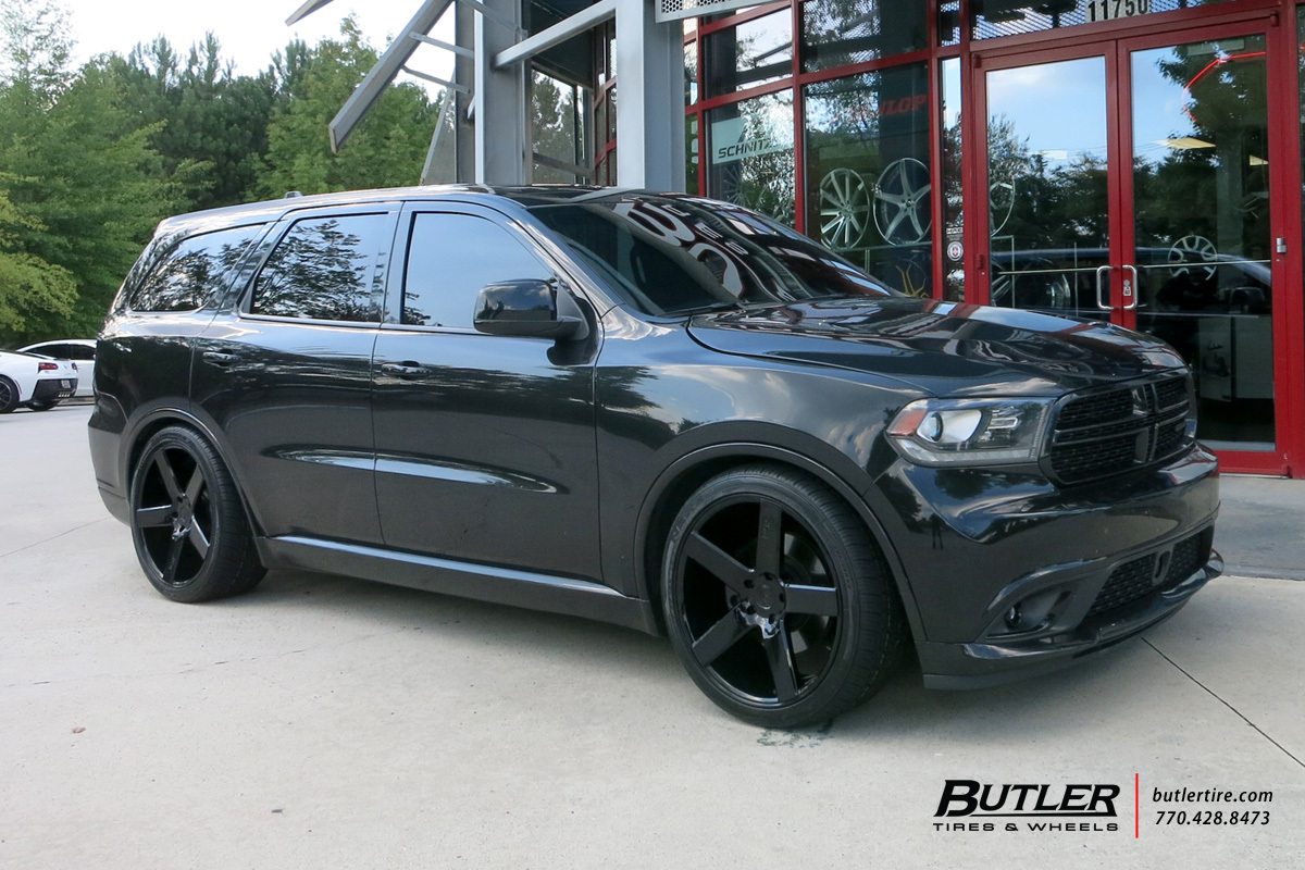 Dodge Durango With Black Rims >> Dodge Durango with 22in Niche Milan Wheels exclusively from Butler Tires and Wheels in Atlanta ...