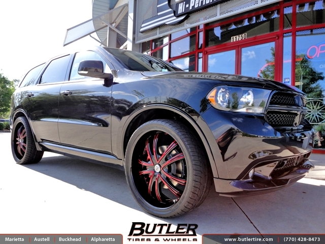 Dodge Durango with 24in Lexani LSS55 Wheels