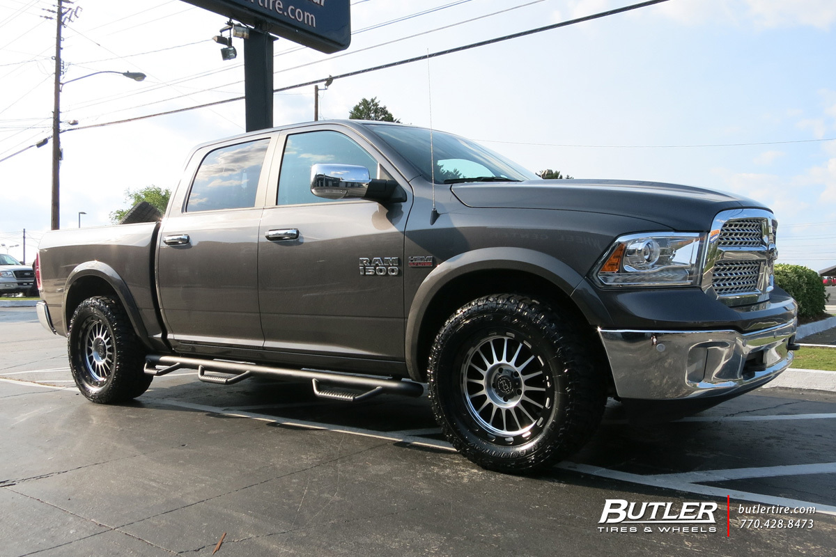 Dodge Ram with 20in Black Rhino Taupo Wheels