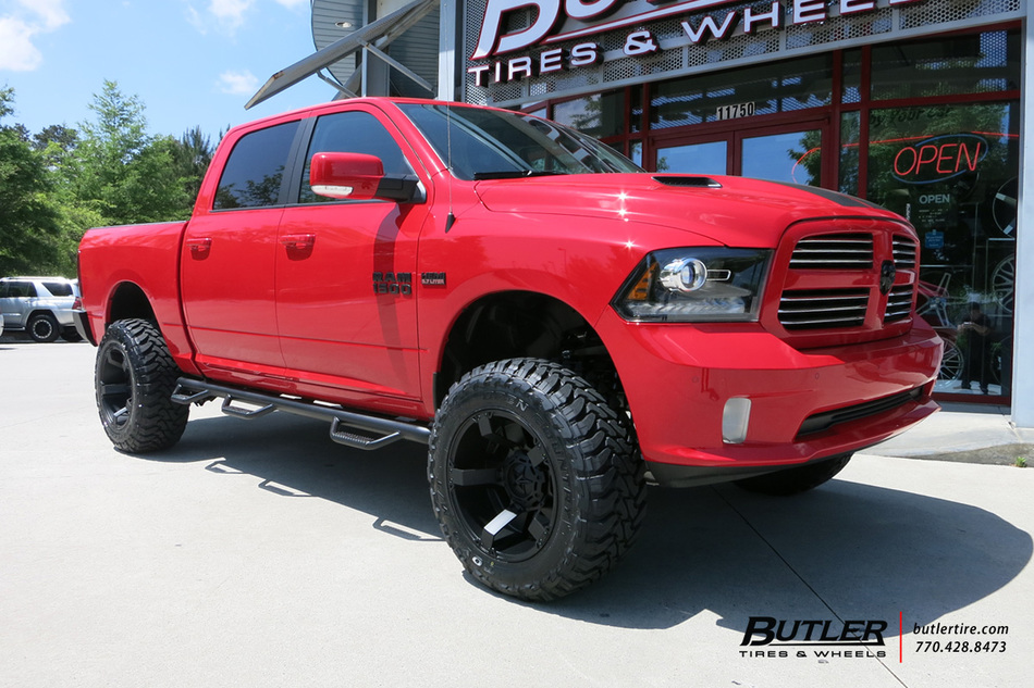 Dodge Durango With Black Rims >> Dodge Ram with 20in XD Rockstar II Wheels exclusively from Butler Tires and Wheels in Atlanta ...