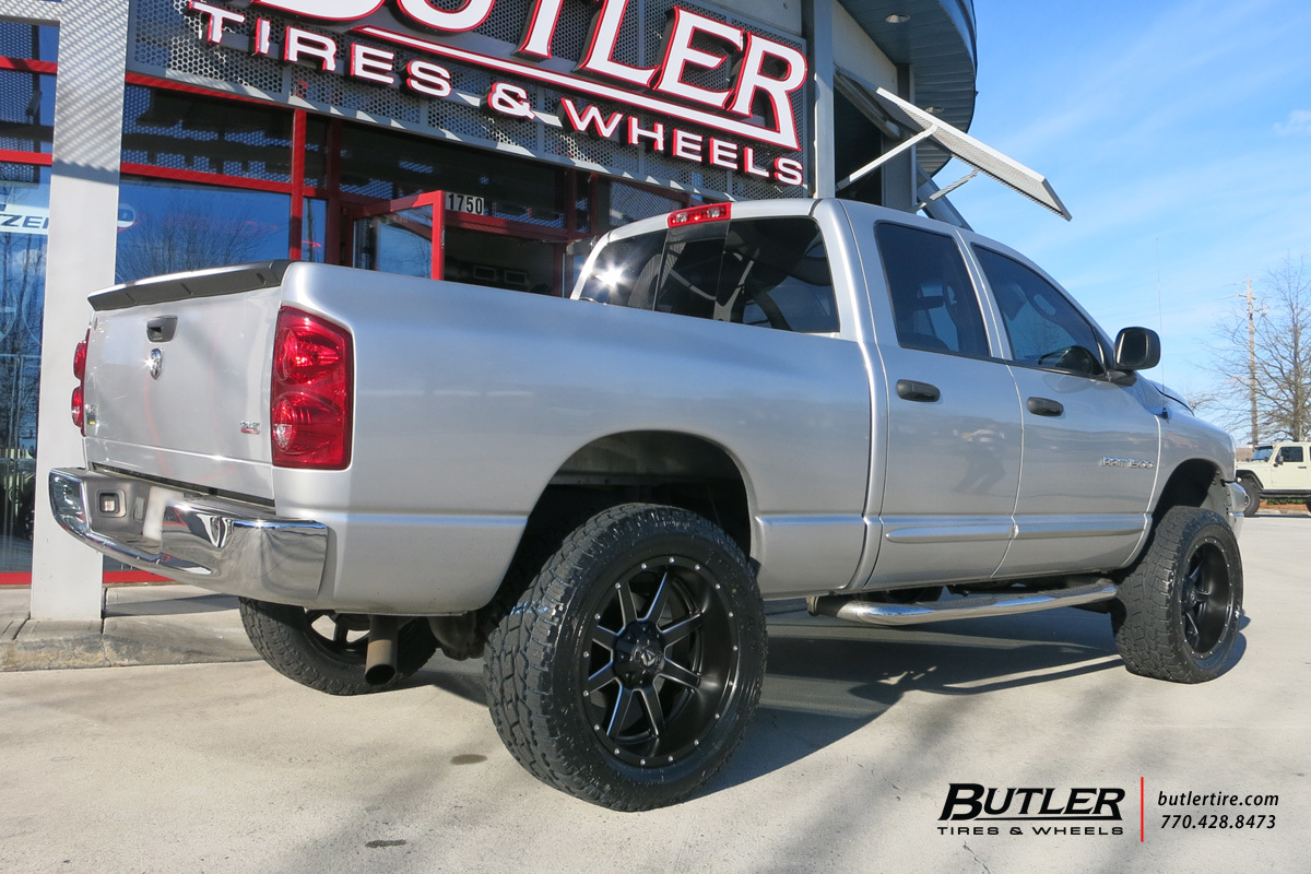Dodge Ram with 22in Fuel Maverick Wheels