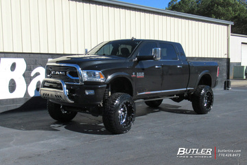 Dodge Ram with 22in Fuel Triton Wheels