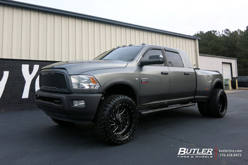 Dodge Ram with 24in Fuel Triton Wheels