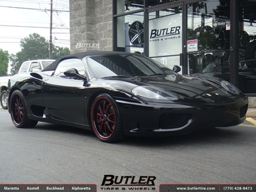 Ferrari 360 with 20in Savini BM1 Wheels