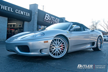 Ferrari 360 with 20in Savini SV25 Wheels