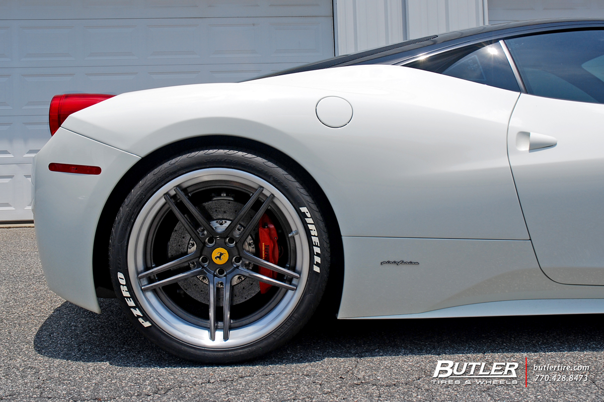 Ferrari 458 Italia with 21in Avant Garde AGL15 Wheels
