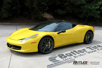 Ferrari 458 Italia with 21in TSW Bathurst Wheels