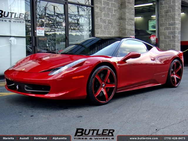 Ferrari 458 Italia with 22in Forgiato Aggio ECL Wheels