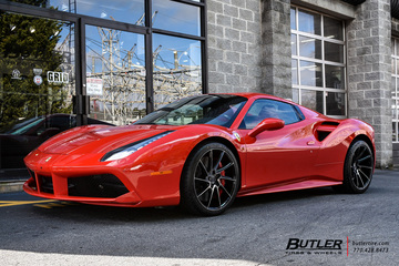 Ferrari 488 GTB with 20in Savini BM15 Wheels