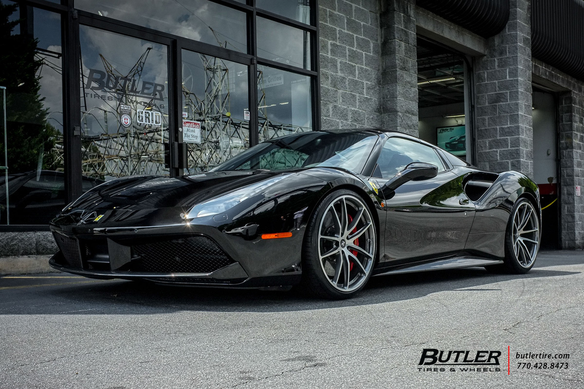 Ferrari 488 GTB with 21in HRE P104 Wheels