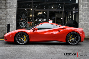 Ferrari 488 GTB with 22in Formula FCS-103 Wheels