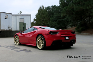 Ferrari 488 GTB with 22in HRE P201 Wheels