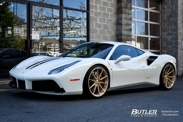 Ferrari 488 GTB with 22in Vossen M-X2 Wheels