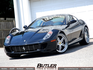 Ferrari 599 GTB with 22in Lexani AF-001 Wheels