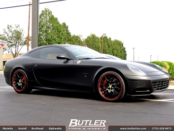 Ferrari 612 Scaglietti with 19in Matte Black Factory Wheels