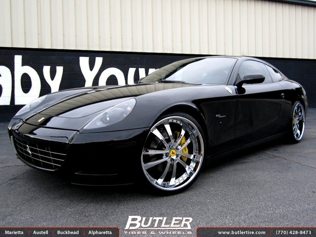 Ferrari 612 Scaglietti with 22in DUB Technic Wheels