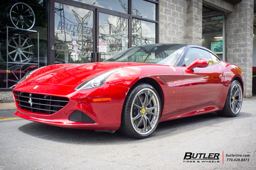 Ferrari California with 20in HRE S104 Wheels