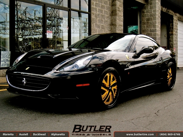 Ferrari California with 22in Forgiato Rasoio Wheels