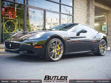 Ferrari California with 22in HRE P101 Wheels