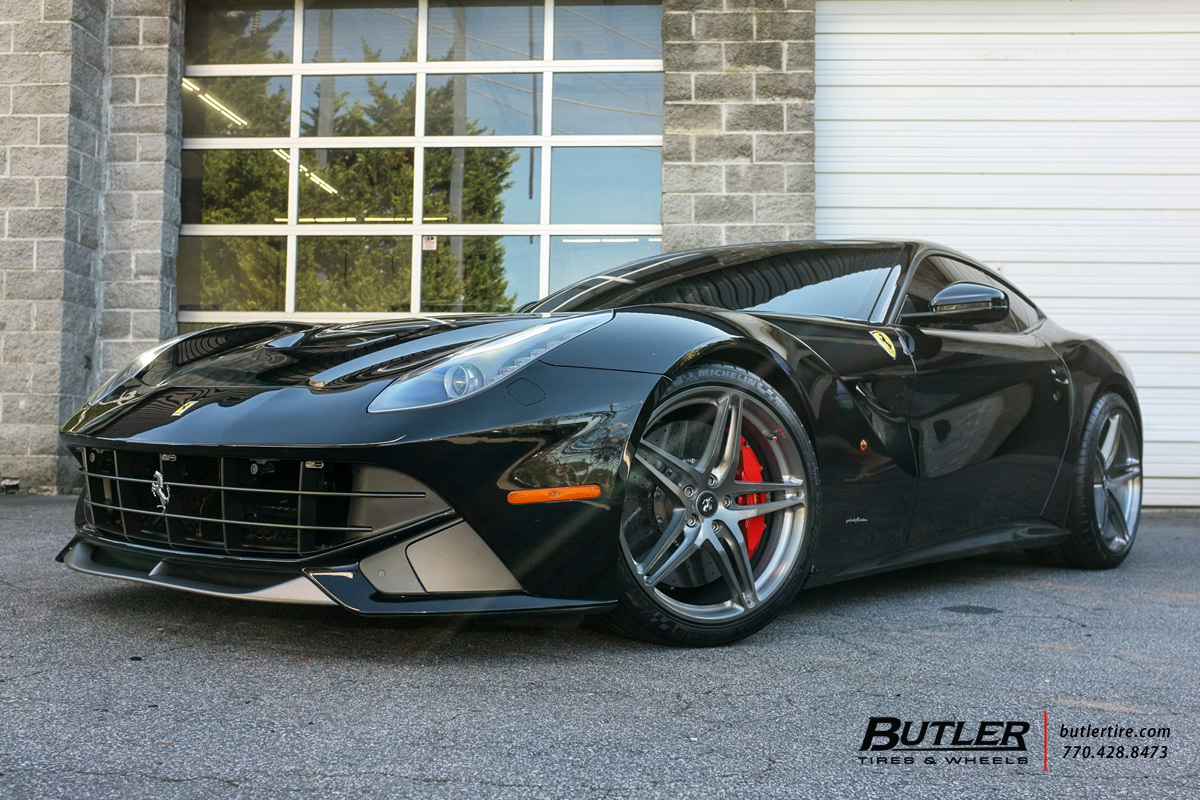 Ferrari F12 Berlinetta with 21in HRE P107 Wheels